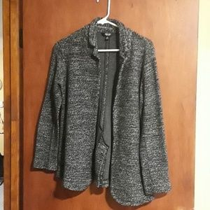 Simply Vera Black, Gray and White Wool Blazer